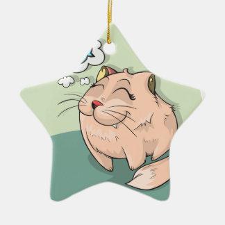 Ornamento De Cerâmica Peixes animais do gato que pensam o animal de