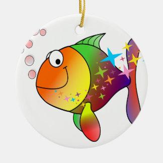 Ornamento De Cerâmica Peixes de atum do Oceano Pacífico da cor do