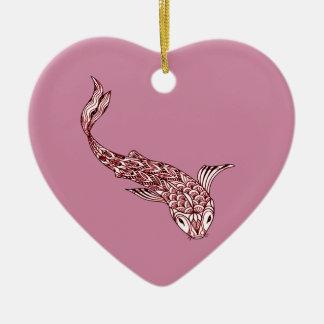 Ornamento De Cerâmica Peixes de Koi