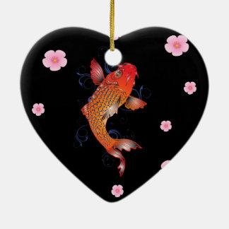 Ornamento De Cerâmica Peixes de Sealife Koi