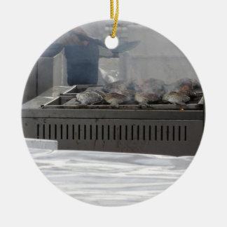 Ornamento De Cerâmica Peixes do churrasco fora