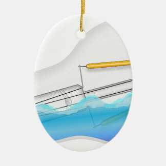 Ornamento De Cerâmica Peixes na ampola