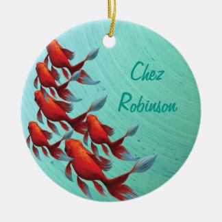 Ornamento De Cerâmica Peixes orientais japoneses de Koi