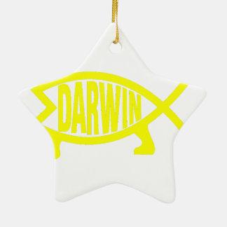 Ornamento De Cerâmica Peixes originais de Darwin (amarelo)