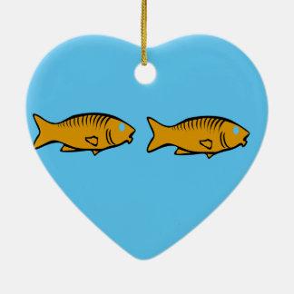 Ornamento De Cerâmica peixes que nadam