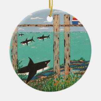 Ornamento De Cerâmica Peixes que não mordem hoje