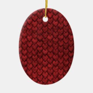 Ornamento De Cerâmica Pele vermelha do dragão