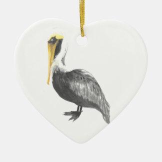 Ornamento De Cerâmica Pelicano de Brown