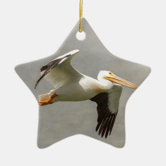 Ornamento De Cerâmica Pelicano em vôo