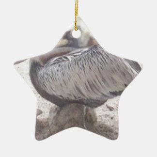 Ornamento De Cerâmica Pelicano puro com Shell
