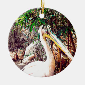 Ornamento De Cerâmica pelicanos