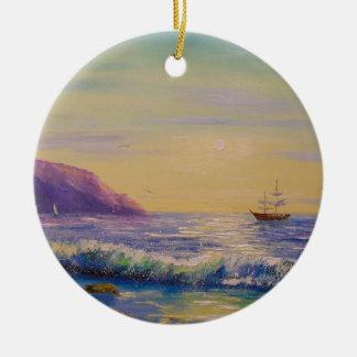 Ornamento De Cerâmica Pelo mar