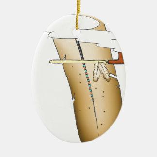 Ornamento De Cerâmica pena