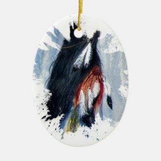 Ornamento De Cerâmica Penas de Eagle da aguarela