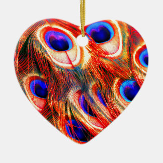 Ornamento De Cerâmica Penas do pavão