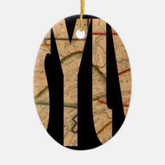Ornamento De Cerâmica pennsylvania1811