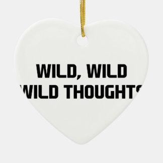 Ornamento De Cerâmica Pensamentos selvagens selvagens