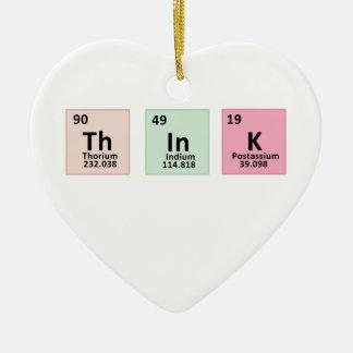 Ornamento De Cerâmica Pense - a química