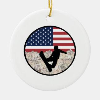 Ornamento De Cerâmica Pensionistas de América