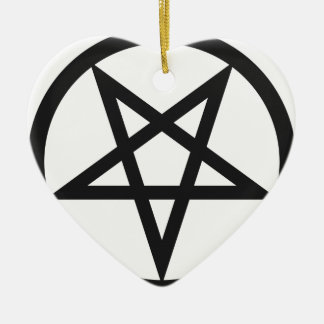 Ornamento De Cerâmica Pentagram corajoso