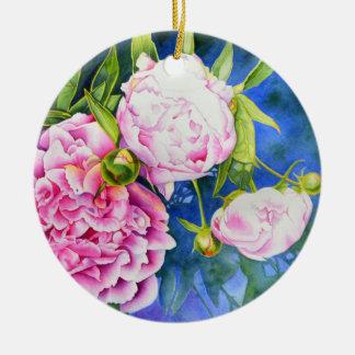 Ornamento De Cerâmica Peônia