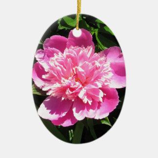 Ornamento De Cerâmica Peônia cor-de-rosa