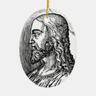 Ornamento De Cerâmica Perfil do Jesus Cristo