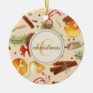 Ornamento De Cerâmica Perfumes do vintage do Natal