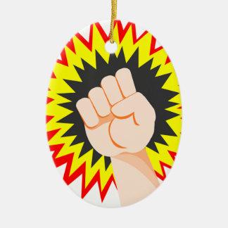 Ornamento De Cerâmica Perfurador da energia do poder do braço da força