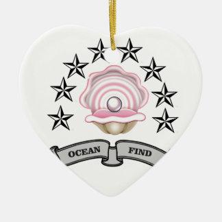 Ornamento De Cerâmica pérola do achado do oceano