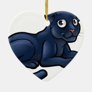 Ornamento De Cerâmica Personagem de desenho animado da pantera preta