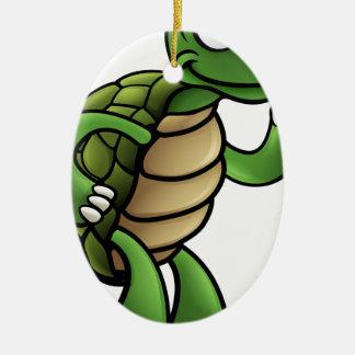 Ornamento De Cerâmica Personagem de desenho animado da tartaruga