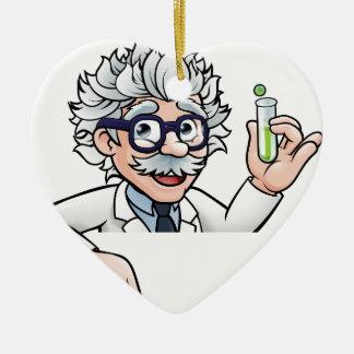 Ornamento De Cerâmica Personagem de desenho animado do cientista que