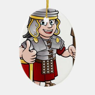 Ornamento De Cerâmica Personagem de desenho animado romano do soldado