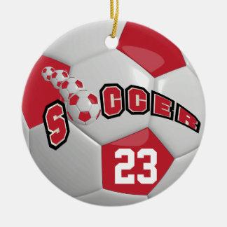 Ornamento De Cerâmica Personalize a obscuridade da bola de futebol | -