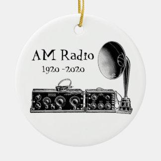 Ornamento De Cerâmica Personalize o receptor de rádio do AM do vintage