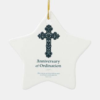 Ornamento De Cerâmica Personalize, padre do aniversário da