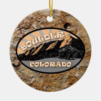 Ornamento De Cerâmica Personalizou o Flatirons, Boulder Colorado