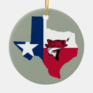 Ornamento De Cerâmica Pesca de Texas