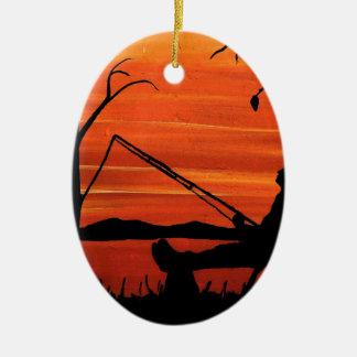 Ornamento De Cerâmica Pesca ida