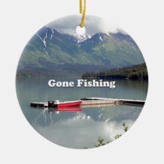 Ornamento De Cerâmica Pesca ida: Lago trail, Alaska