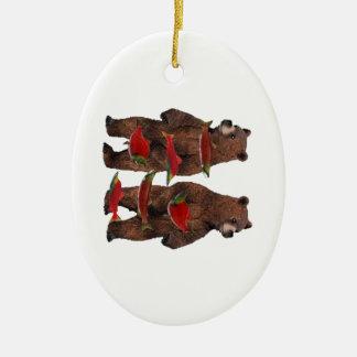 Ornamento De Cerâmica Pesca rio acima