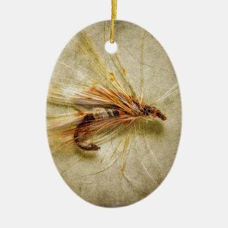 Ornamento De Cerâmica Pescando a mosca