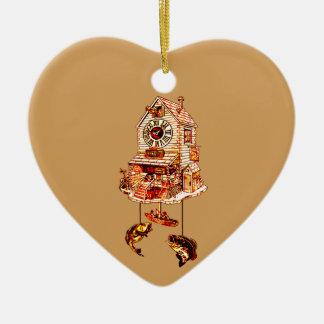 Ornamento De Cerâmica Pescando o pulso de disparo de cuco do alojamento