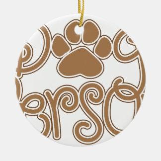 Ornamento De Cerâmica Pessoa do cão