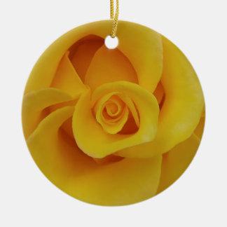 Ornamento De Cerâmica Pétalas cor-de-rosa amarelas românticas