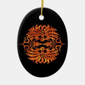 Ornamento De Cerâmica Phoenix tribal flamejante