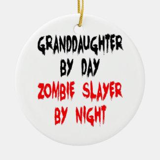 Ornamento De Cerâmica Piada do zombi da neta