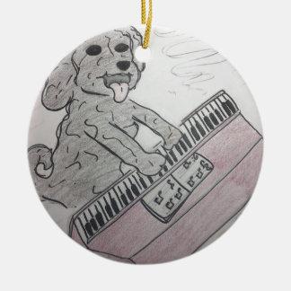 Ornamento De Cerâmica piano do filhote de cachorro
