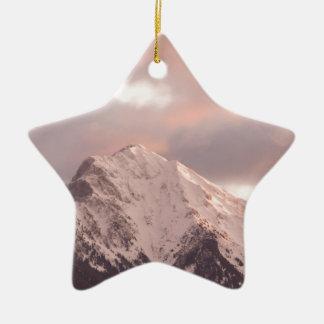 Ornamento De Cerâmica Pico de montanha no nascer do sol